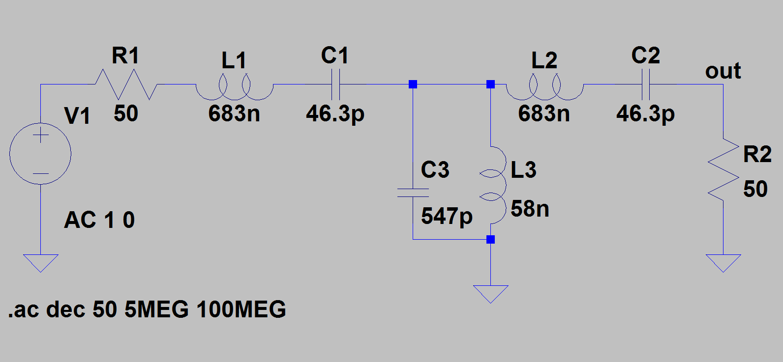 Filters Example 2 Butterworth Filter As We See The Values Of Inductors And Capacitors Are Very Reasonable These Theoretical Which Have To Be Approximated By Commercial